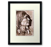 Profile Jicarilla Apache Chief Framed Print
