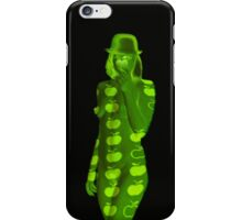 Green apple girl iPhone Case/Skin