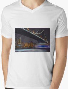 New York Minute  Mens V-Neck T-Shirt
