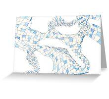 Geometric landscape blue drawing Greeting Card