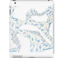 Geometric landscape blue drawing iPad Case/Skin