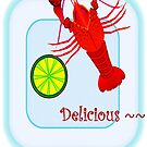 iphone cover-lobster by LisaBeth
