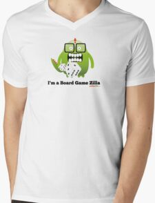 I'm A Board Game Zilla Mens V-Neck T-Shirt