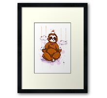 The Peaceful Zen Sloth Framed Print