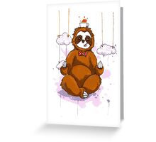 The Peaceful Zen Sloth Greeting Card