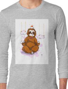 The Peaceful Zen Sloth Long Sleeve T-Shirt