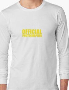 Official Photographer Long Sleeve T-Shirt