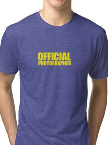 Official Photographer Tri-blend T-Shirt