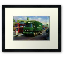Avery's ERF eight-wheeler. Framed Print