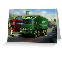 Avery's ERF eight-wheeler. Greeting Card