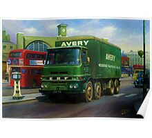 Avery's ERF eight-wheeler. Poster