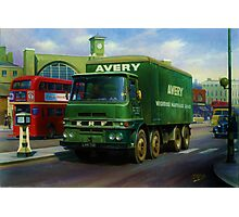 Avery's ERF eight-wheeler. Photographic Print