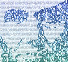Abe Lincoln Speech Portrait Sticker