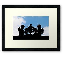 Angelic silhouette Framed Print