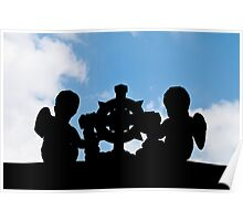 Angelic silhouette Poster