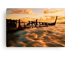 Golden Ripples Canvas Print