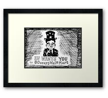 Hu Wants You to OccupyWalMart Framed Print