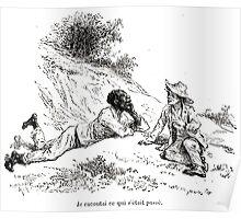 Achille Sirouy Mark Twain Les Aventures de Huck Huckleberry Finn illustration p096 Poster