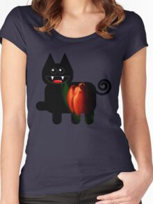 KITTEN 4/6 Women's Fitted Scoop T-Shirt