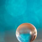 Metallic Blue Orb by Melinda Potter