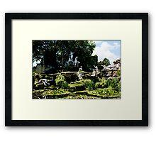 york house garden statues Framed Print