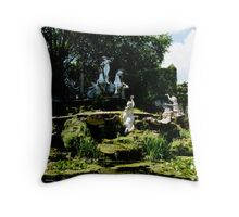 york house garden statues Throw Pillow