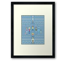 Rick and Morty Family Portrait Framed Print