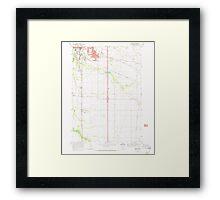 USGS Topo Map Oregon Tangent 281752 1969 24000 Framed Print