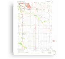 USGS Topo Map Oregon Tangent 281752 1969 24000 Canvas Print