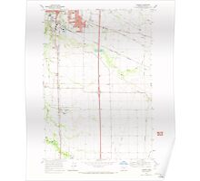 USGS Topo Map Oregon Tangent 281752 1969 24000 Poster