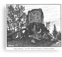 Georg Lilie Liebenstein Ruine Canvas Print