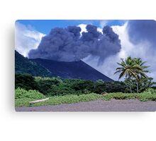 Smoking Yasur Volcano Canvas Print