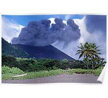 Smoking Yasur Volcano Poster