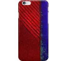 red and blue iPhone Case/Skin