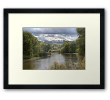 The River Medway at Teston Framed Print