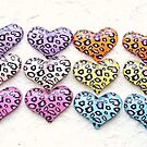 Hearts With Animal Patterns by souzoucreations