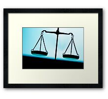 Weighing scales Framed Print
