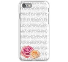 Somewhere only we know Lyric ft. The Roses iPhone Case/Skin
