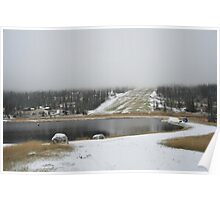 Snow and clouds Poster