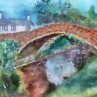 Dunsop Bridge Watercolour by Irene  Burdell