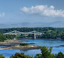 Menai Suspension Bridge by cj1970