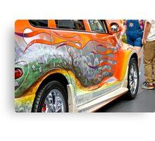 PT CRUISER GRAVE YARD CAR Canvas Print