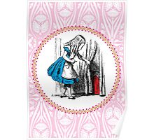 Alice in Wonderland | Alice, with Key in Hand, Pulls Back the Curtain to Find the Door to Wonderland  Poster