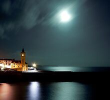 Porthleven by night by Sarin