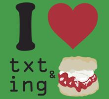 Texting and scones... Kids Clothes