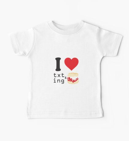 Texting and scones... Baby Tee