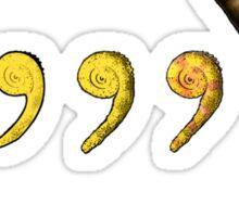 Comma, Comma, Chameleon! Sticker