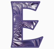 Fractal – Alphabet –  E is for Elegance One Piece - Short Sleeve