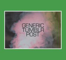 Generic Tumblr Post One Piece - Short Sleeve
