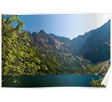 Morskie oko lake in the mountains Poster